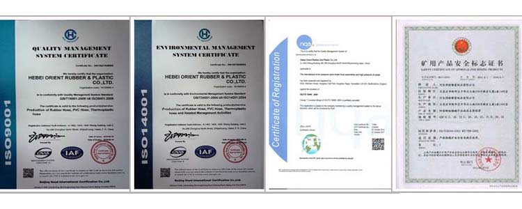 rubber hose certificate